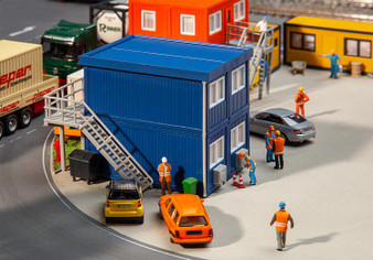 FALLER 130134 4 Building site containers, blue (HO)