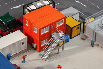 FALLER 130135 4 Building site containers, orange (HO)