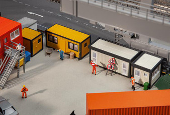 FALLER 130136 4 Building site containers, black-yellow / grey-black (HO)