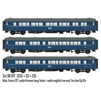 LS MODELS 98017 coaches set S2U and S3. CP. (DC HO)