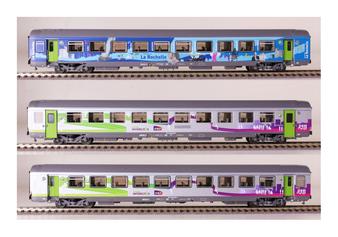 "LS MODELS 41201 SET VTU ""La Rochelle"" Intercités, epoch VI (DC HO)"