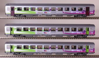"LS MODELS 41207 SET VTU ""Intercities"" der SNCF, Epoch VI (DC HO)"