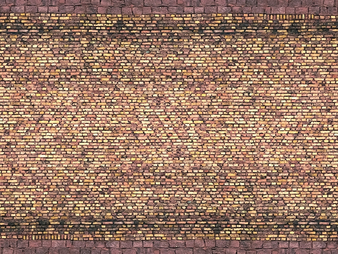 "NOCH 56605 3D-Kartonplatte ""Ziegel"" (HO) 25X12,5CM"