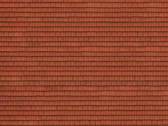 """NOCH 56670 3D Cardboard Sheet """"Roof Tile"""" (HO) 25X12.5CM"""