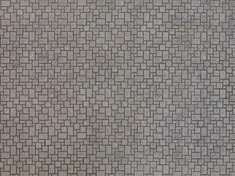 "NOCH 56722 3D Cardboard Sheet ""Modern Pavement"" (HO) 25X12.5CM"
