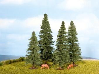 NOCH 25232 Fir Trees (HO)  4 pieces