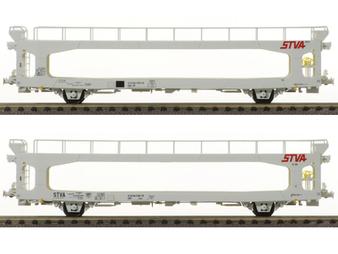 LS MODELS 30704  2 porte-autos TA260 gris clair STVA Ep.V  (DC HO)