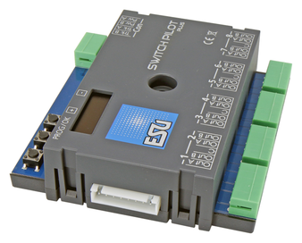 ESU 51831 Gauge Neutral SwitchPilot 3 Plus, 8x accessory decoder, DCC/MM, OLED