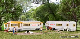KIBRI 15704 Funfair trailer, 2 pieces (HO)