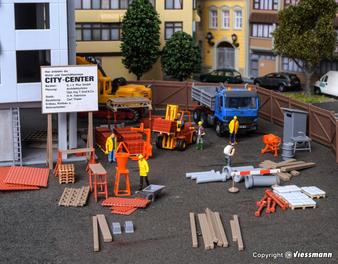 Kibri 38538  Deco set Construction site accessories (HO)