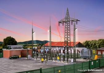 KIBRI 39840 Electrical substation Baden-Baden with electric lightning (HO)