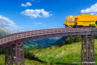 KIBRI 39706  Steel girder bridge curved, single track (HO)