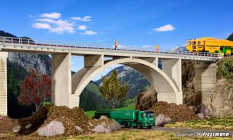 KIBRI 39740 Prestressed concrete bridge, single track (HO)