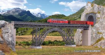 KIBRI 39704 Steel girder viaduct Müngstertal, single track (HO)