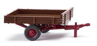 WIKING 087943 Allgaier single-axle trailer – fawn (HO)
