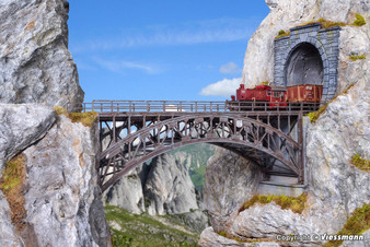 Vollmer 42548 Steel arched bridge Schlossbach, straight (HO)