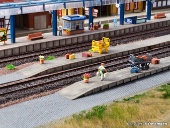 VOLLMER 43558 Baggage service platform, six-part (HO)