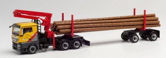 "HERPA 312998 MAN TGX L log transporter ""Mengel Holztransporte"" HO)"