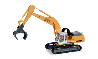 HERPA 308908 LIEBHERR TRACKED EXCAVATOR 954 LITRONIC WITH SORTING GRAB (HO)