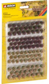 """NOCH 07014 Grass Tufts """"Wild Flowers"""" (HO) 52 PIECES"""