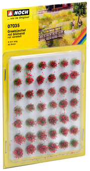 """NOCH 07035 Grass Tufts """"blooming"""" (HO) 42 PIECES"""