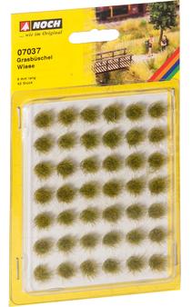 "NOCH 07037 Tuft of grass Mini-Set ""Meadow"" (HO) 42 PIECES"