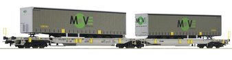 ROCO 67404 ARTICULATED DOUBLE POCKET WAGON, AAE (DC HO)