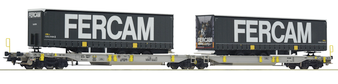 ROCO 76435 ARTICULATED DOUBLE POCKET WAGON, AAE (DC HO)