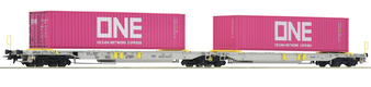 ROCO 76426 ARTICULATED DOUBLE POCKET WAGON, AAE