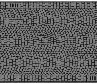 NOCH 60722 Cobbled Pavement (HO) 6.6X100 CM