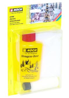 NOCH 07065 Starter set snowflakes, 50 ml glue, 25 g flakes (HO)