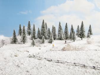 NOCH 26928 Snowy Fir Trees (HO) 10 PIECES 5-14 CM