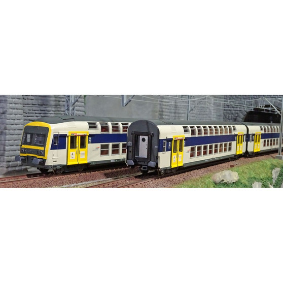 VITRAINS 1124  Set VB2N 3Pcs Blu Nord Pas de Calais (DC HO)