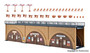 VOLLMER 44500 Arcades with arc inset, 3 pieces (HO)