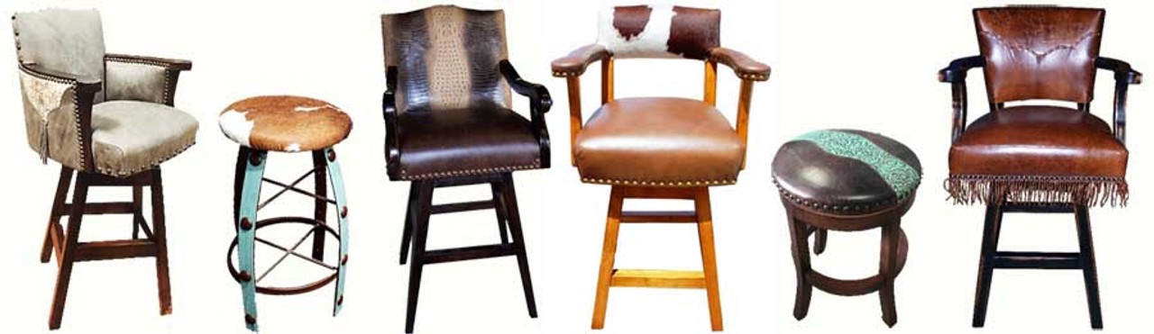 RUSTIC COUNTRY WESTERN BAR STOOLS