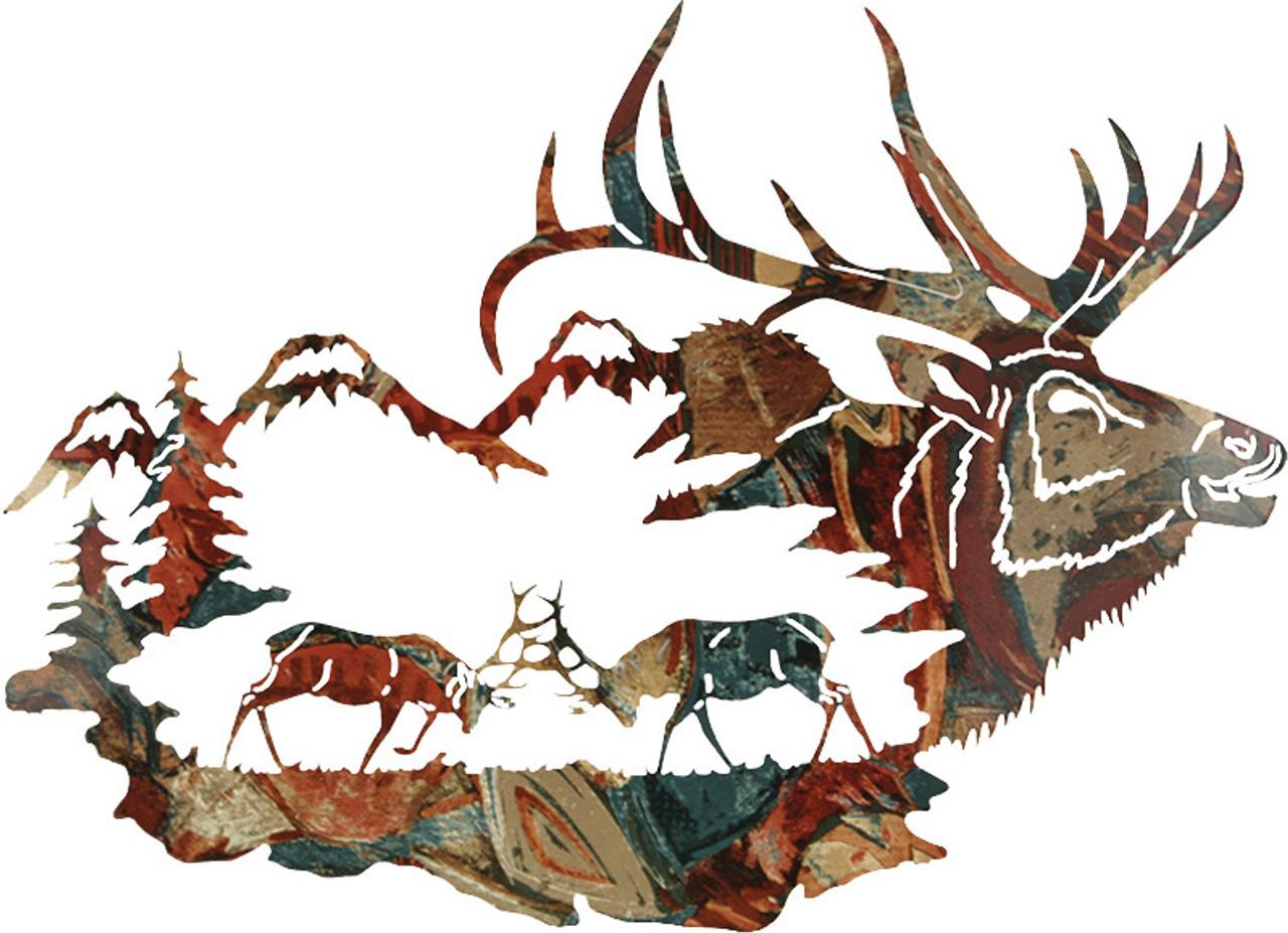 Elk Wall Art, Wall Hangings of Elk