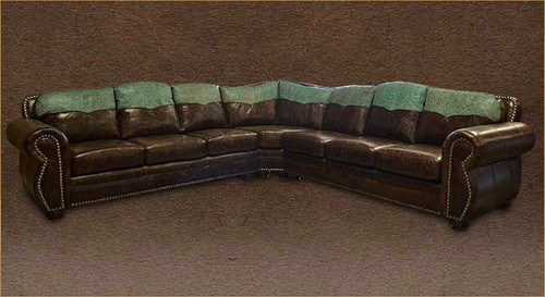 Rustic Log Cabin Sectional