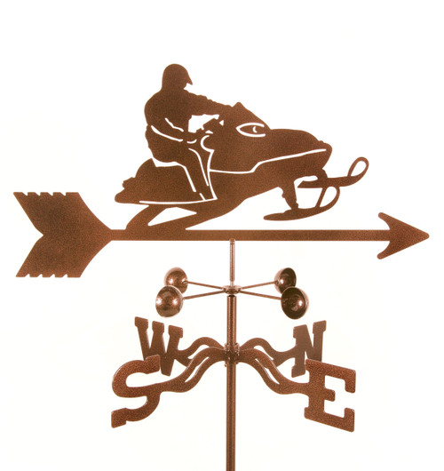 Weathervane of Snow Mobile