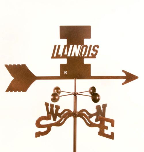 Illinois Fighting Illini College Team Logo Weathervane