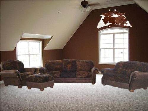 Cowhide 4 Piece Couch Set