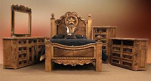 Southwest Ranchero Country Western Bedroom Set