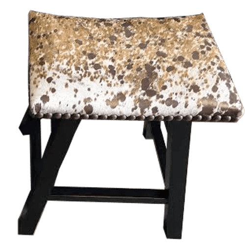 Country Western Rustic Cowhide Bar Stool  no back, no arms