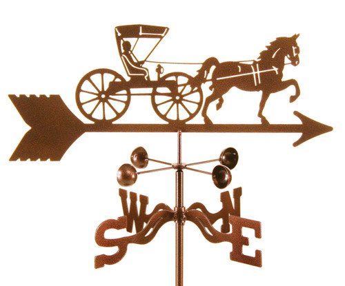 Weathervane of Horse and Buggy Doctor