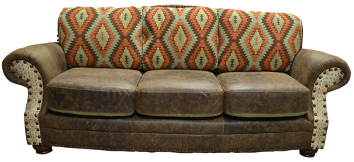 Custom Country Western Hand Crafted Couch
