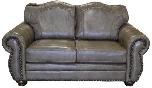 Rustic Western Genuine Full Grain Leather Love Seat
