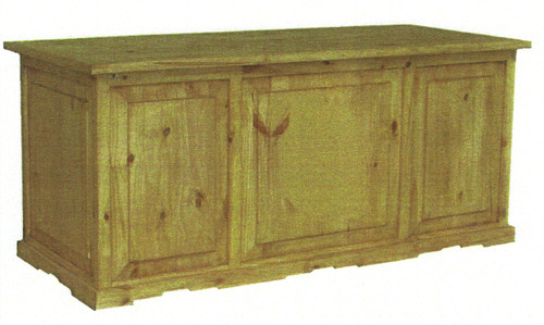 PINE EXECUTIVE 2 PEDESTAL DESK 68W X 29D X 30H