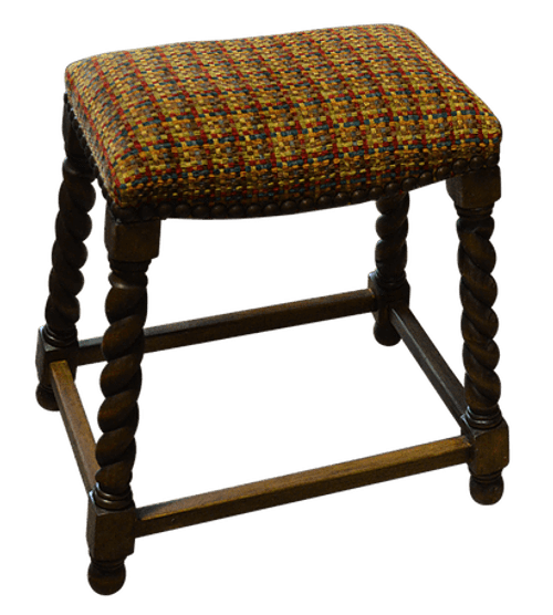 Twisted Leg Bar Stool, country western backless stool