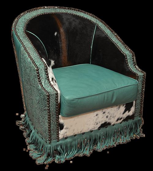 Cowhide Barrel Chair