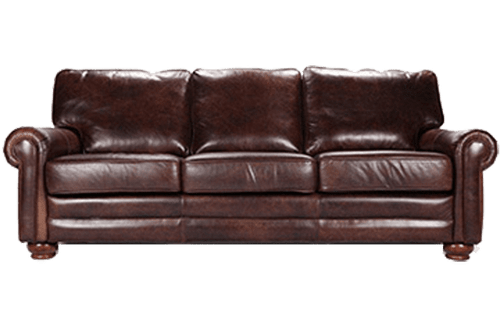 genuine full grain all leather couch, sofa