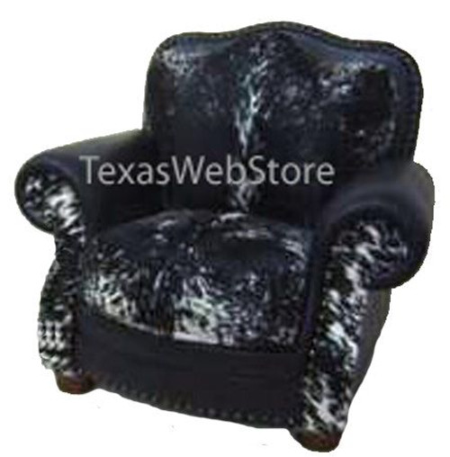 Country Western Cowhide and Leather Chair or Recliner